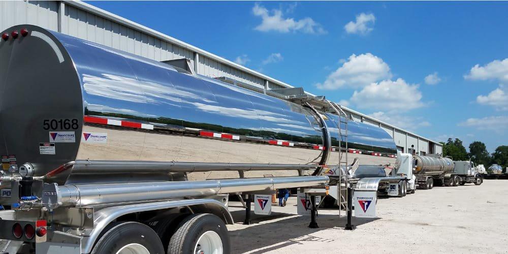 Fuel truck in yard